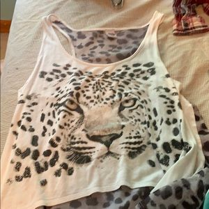 Tops - tiger crop top